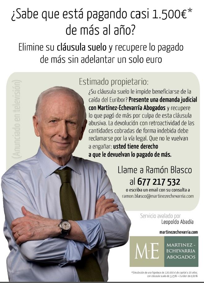 Acuerdo con martinez echebarria abogados para for Clausula suelo acuerdo